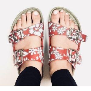 Birkenstock Birki's Waterproof Red Floral Sandals